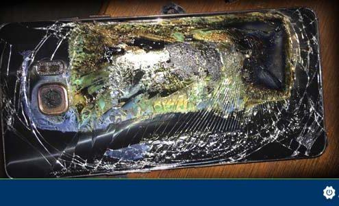 Samsung Galaxy Note7 burn
