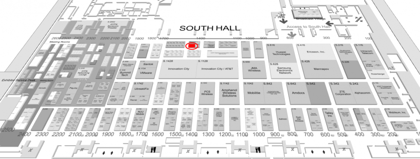 South Hall, Moscone Center Exhibitor Map